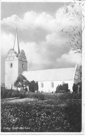 Postcard photo of the Church in Visby, Denmark.
