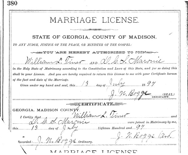 How To Find Marriage Records 6 Steps With Pictures: William L. TYNER & Mary E. FORTSON & Dicy C.S. CHAMBLER