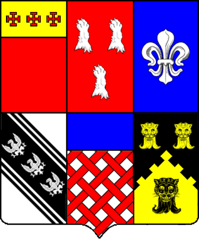 Benjamin Lynde's Coat of Arms (includes wife's Browne arms)